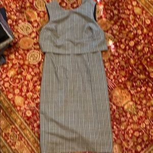 Banana republic Plaid Dress 4 in excellent shape